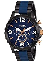 Fossil Nate Analog Blue Dial Men's Watch - JR1494I