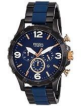 Fossil Nate Analog Blue Dial Men's Watch - JR1494I