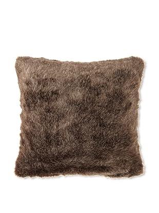 Zodax Faux Fur Throw Pillow, Brown
