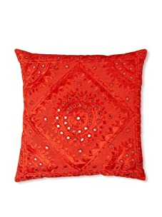 """AKMD 16""""x 16"""" Throw Pillow (Rusted Red)"""