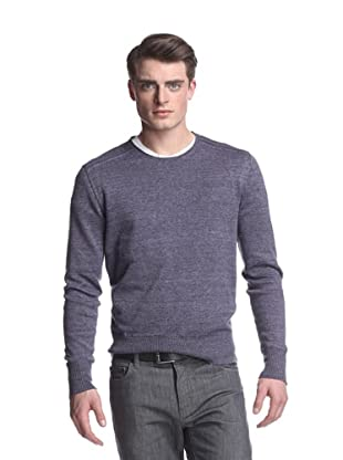 John Varvatos Collection Men's Long Sleeve Crew Neck Sweater (Aubergine)