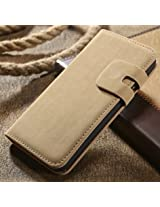 Yuga SoftSTYLE Leather Flip Cover For Apple Iphone 6 (Camel Beige)