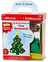 Activity Bucket With Ornaments, Snowflakes & Candy Canes