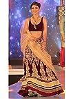 Shilpa Shetty in Wine Moss Velvet Designer Lehenga 2119