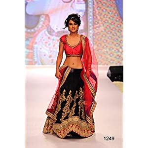 Harshika Designer Bridal Lehenga - Black