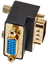 Monoprice 108730 Female to Male VGA Coupler - 90 Degree, Gold Plated, 2-Pack