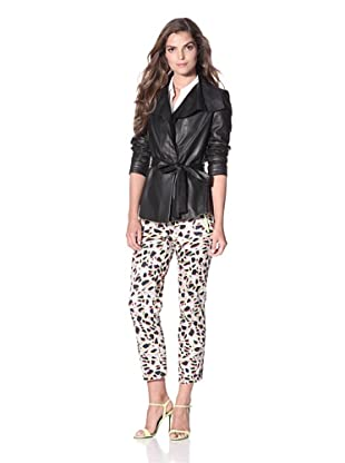 Elie Tahari Women's Iris Elegance Leather Jacket (Black)