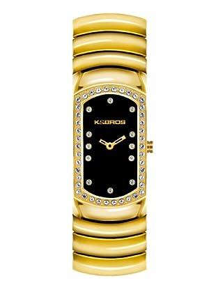 K&BROS 9168-3 / Reloj de Señora  con brazalete metálico negro