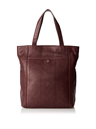 Charlotte Ronson Women's Cable Embossed Tote, Wine