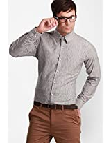 Solid Grey Formal Shirt