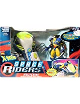 WOLVERINE & MOTORIZED SLASHING SPACE SHUTTLE X-Men Space Riders MARVEL COMICS Action Figure & Vehicle