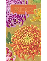 Entertaining with Caspari Bridge Score Pad, Chrysanthemums