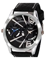 Exotica Black Dial Analogue Watch for Men (EF-80-Dual-Black)