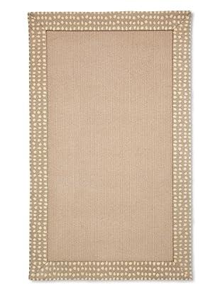Natural Rugs Tiffany Dot-Border Rug, Brown, 4' x 6'