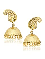 Kundan Pearl Jhumka Earrings For Women Girls in Traditional Ethnic Gold Plated Earings By Meenaz J114