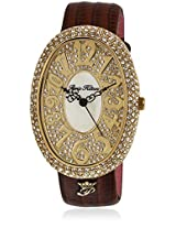 H Ph13574jsg/06 Brown/Golden Analog Watch Paris Hilton