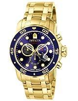 Invicta Men's 0073 Pro Diver Quartz Chronograph Blue Dial Watch