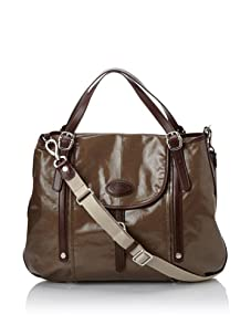 Tod's Women's Flap-Top Tote, Olive/Brown