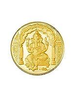 Gitanjali 10gm 24k (995) Yellow Gold Ganesh Precious Coin