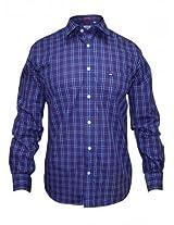 Arrow Blue Casual Checks Shirt