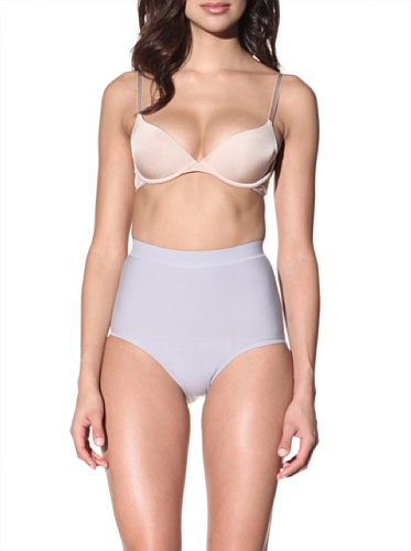 Nearly Nude Women's Smoothing Cotton Brief (Dapple Grey)