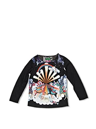 Desigual Camiseta Flor Del Desierto (Negro)