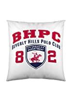 Beverly Hills Polo Club Funda De Cojín Logo (Blanco / Rojo)