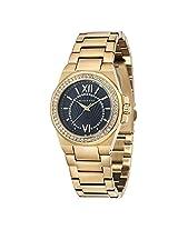Giordano Analog Black Dial Women's Watch - GX2686-44