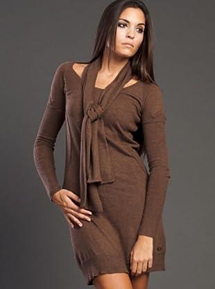 Ikks Vestido (marrón)