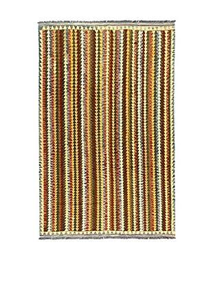 L'Eden del Tappeto Teppich Kilimp-Vegetale mehrfarbig 307t x t200 cm