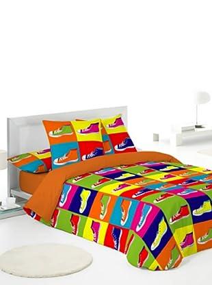 Naturals Juego de Fundas Nórdicas Zapatillas (Multicolor)
