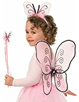 Forum Child Fairy Set with Wings/Wand/Headband (3 Piece), Magenta