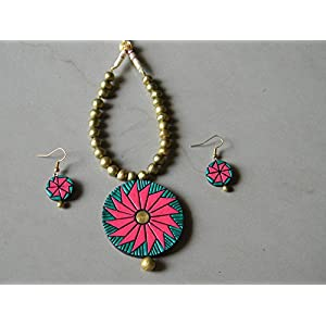 Shingles d'sire Daily Wear Set in Pink & Blue jewellery Set