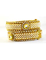 Fabzeel Traditional One Gram Gold Indian Kada Bangle For Women & Girls Size 2.4