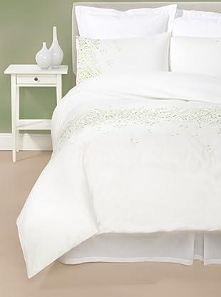 Mélange Home Gradient Duvet Cover Set (White/Lime)