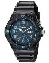 "Casio Unisex MRW200H-2BV ""Neo-Display"" Black Resin Watch"