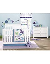 NoJo Beautiful Butterfly 9-Piece Crib Bedding Set