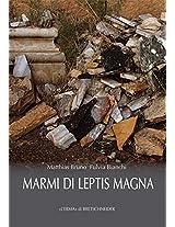 Marmi Di Leptis Magna (Studia Archaeologica)