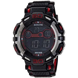Sonata Ocean Series II Digital Black Dial Men's Watch - 77009PP01J
