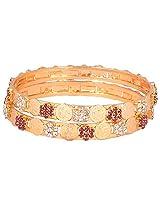 Anvi Creations Bangle Set For Women (Gold)