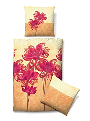 Biberna 635318/562/001 Satin Bettwäsche (nektarine)
