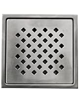 Aquieen Stainless Steel Floor Grating (Silver, Daisy)