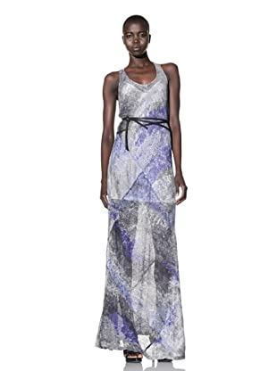 Improvd Women's Spencer Etheral Sleeveless Maxi Dress (Blue Fire Print)