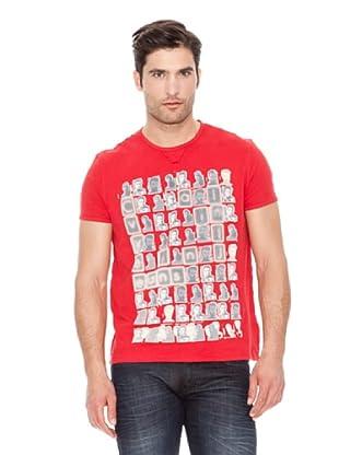 Calvin Klein Jeans Camiseta Vintage Cuello Redondo M / C (Rojo)