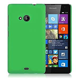 WOW Imagine Matte Rubberised Hard Case Back Cover For Nokia Microsoft Lumia 535 (Parrot Green)
