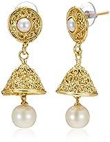 Ava Jhumki Earrings for Women (Golden) (E-VS-1938)