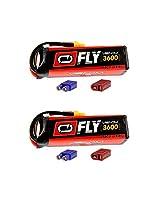 Venom Fly 50 C 4 S 3600m Ah 14.8 V Li Po Battery With Universal 2.0 Plug X2 Packs