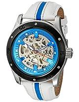 Akribos XXIV Men's AK476WT Premier Skeleton Automatic Retro Leather Strap Watch