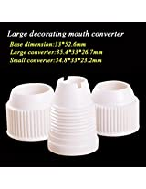 Pastry Tip Converter Plastic Decorating Mouth Converter Baking Tool(3 PC,Size:L)