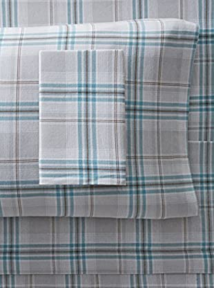 Nautica Willow Brook Flannel Sheet Set (Blue)